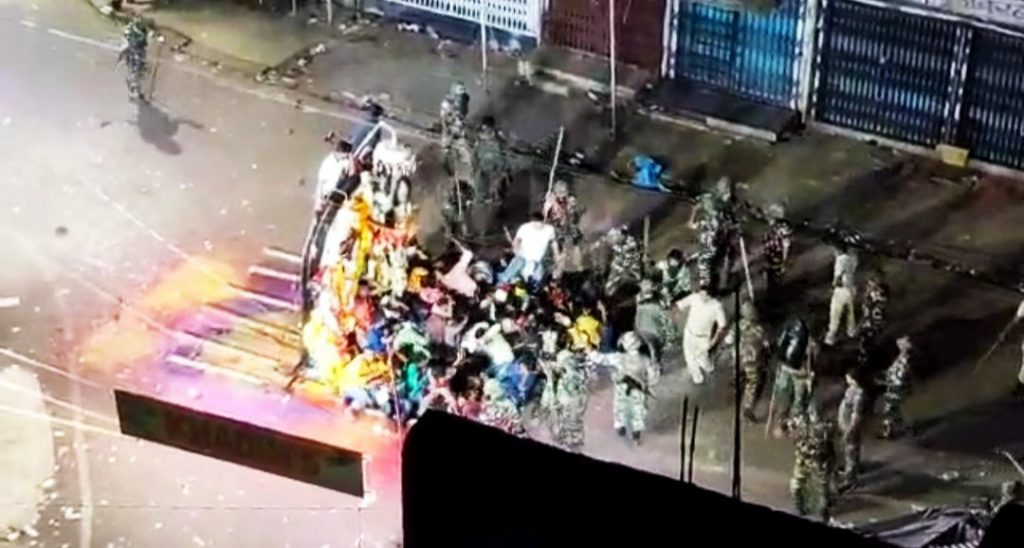 violence during durga puja procession